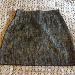 H&M silver metallic mini skirt size 10
